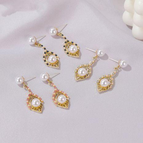 Boucles d'oreilles créatives de feuille de perle coréenne en gros nihaojewelry NHDP253079's discount tags