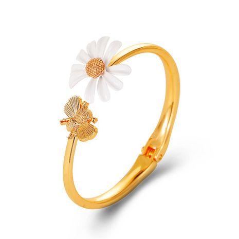 vente chaude bracelet de marguerite d'abeille bracelet de fleur d'ouverture douce exagérée en gros NHDP253086's discount tags