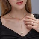 Fashion long heartshaped pendant womens necklace NHDP253108