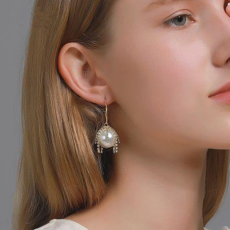 Boucles d'oreilles coréennes exagérées grandes perles pompon pompon en gros NHDP253129's discount tags