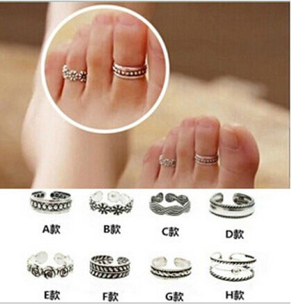 Fashion alloy foot ornaments toe ring for women wholesale NHDP253130's discount tags