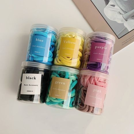Caja de círculo de toalla de felpa en caja de gradiente simple coreano de anillo de cabello sin costura al por mayor NHSM253140's discount tags