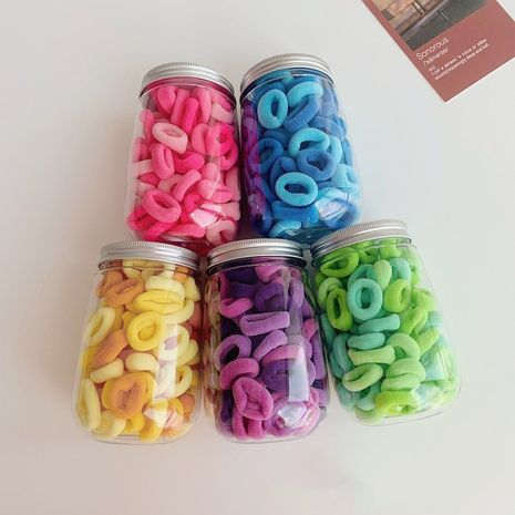 Caja de anillo de cabello con gradiente de color coreano, anillo de toalla, conjunto de cuerda de pelo elástico alto sin costuras al por mayor NHSM253141's discount tags