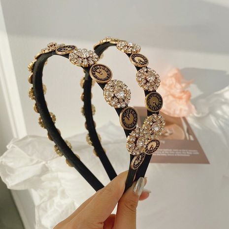 Baroque rhinestone diamond alloy headband wholesale NHSM253162's discount tags