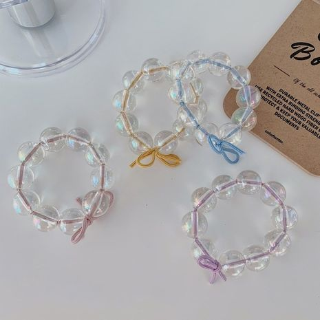 Crystal Pearl Korean Hair Rope High Elastic Rubber Band Hair scrunchies wholesale NHSM253164's discount tags