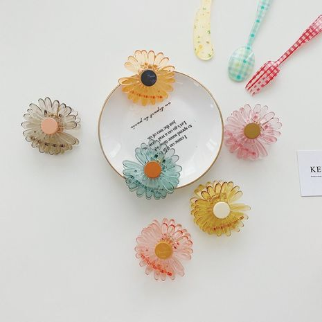 Korean daisy flower shark clip plastic catching clip cute hairpin wholesale NHSM253166's discount tags