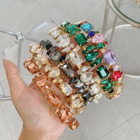 Diadema de aleación retro de diamantes de imitación de diamante completo barroco al por mayor NHSM253167's discount tags