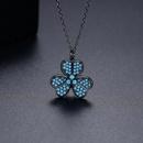 Fashion turquoise pendant womens necklace wholesale NHTM253183