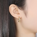Simple and cool temperament fashion allmatch female earrings wholesale NHTM253184