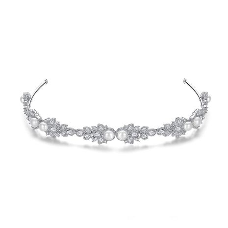 fashion bridal banquet all-match women's pearl hair band wholesale NHTM253200's discount tags