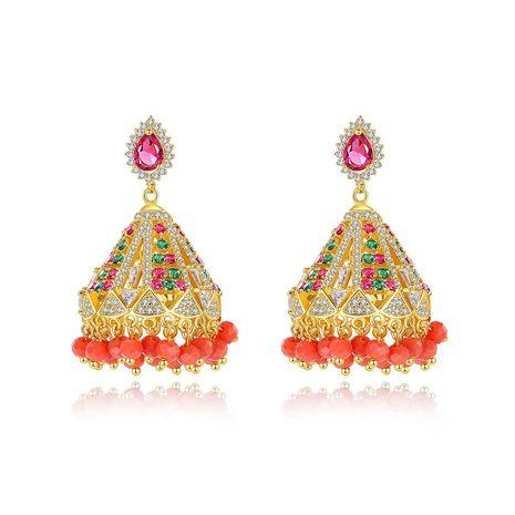 Retro   pearl tassel  zircon earrings wholesale NHTM253216's discount tags