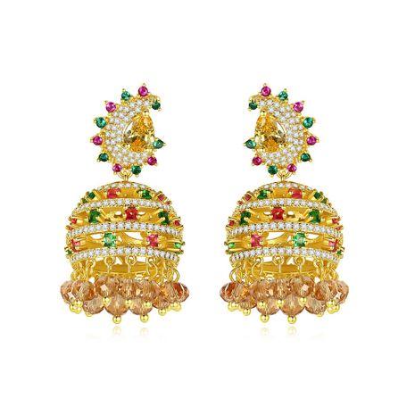 Fashion wind chimes tassels retro women's earrings wholesale NHTM253223's discount tags