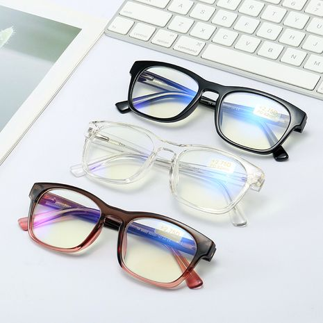 New Fashion Two-color Splicing Frame Glasses Acid Unisex Anti-Blu-ray Glasses wholesale NHFY253260's discount tags