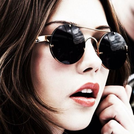 Fashion Trend Retro Round Frame Colorful Metal Men and Women Sunglasses Wholesale NHFY253276's discount tags