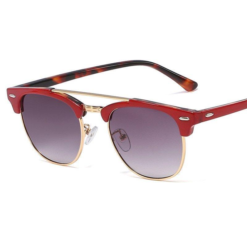 Fashion ladies new sunglasses  rice nail round frame sunglasses retro metal rim  glasses NHFY253285