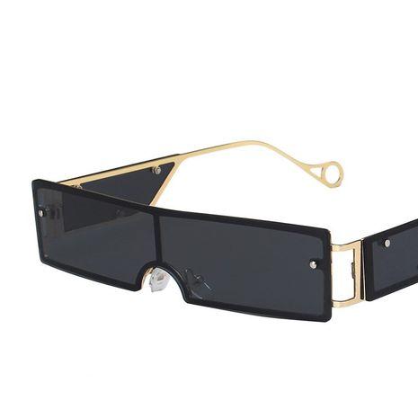 Gafas de sol de una pieza de caja pequeña remache gafas de sol retro de metal con personalidad NHKD253294's discount tags