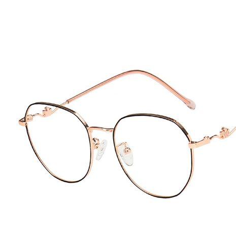 marco de gafas anti-azul luz retro temperamento espejo plano marco de gafas NHKD253306's discount tags