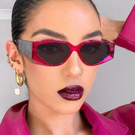 new triangle big frame cat eye pattern retro literary sunglasses wholesale NHKD253314's discount tags