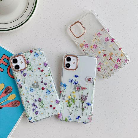 Housse de protection transparente florale adaptée à l'étui de téléphone portable Apple 11Pro Max iphone7 8plus XR NHFI253378's discount tags