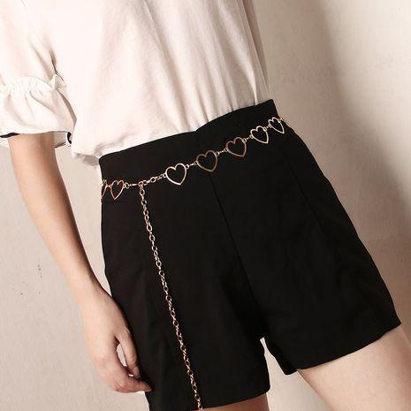 Fashion love waist chain  hollow peach heart all-match  dress decorative belt wholesale NHJN253325's discount tags