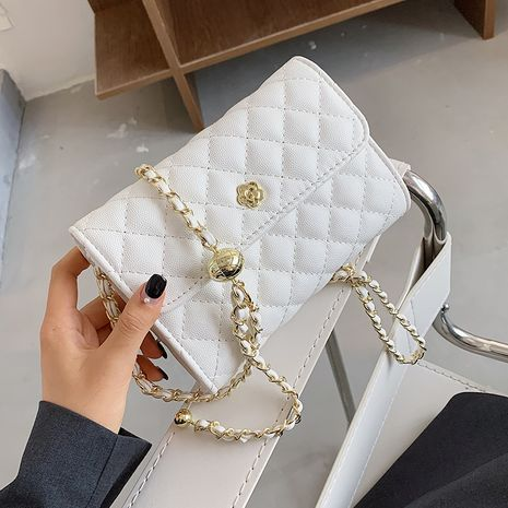 New trendy rhombus chain shoulder bag  version of the wild cross-body small square bag NHLH253587's discount tags