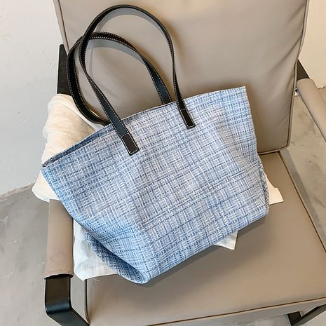 Simple  large-capacity handbags   new trendy fashion burlap canvas shoulder bag  NHLH253595's discount tags