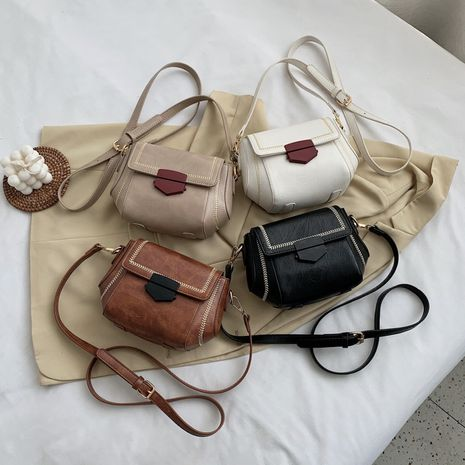 New summer retro all-match casual shoulder bag  trendy messenger small square bag NHLH253607's discount tags