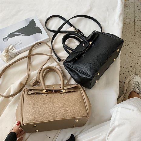Fashion casual solid color handbag  large capacity wild lock single shoulder messenger bag NHLH253608's discount tags
