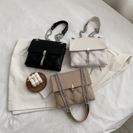All-match diamond chain crossbody large-capacity tassel one-shoulder bag NHLH253609's discount tags