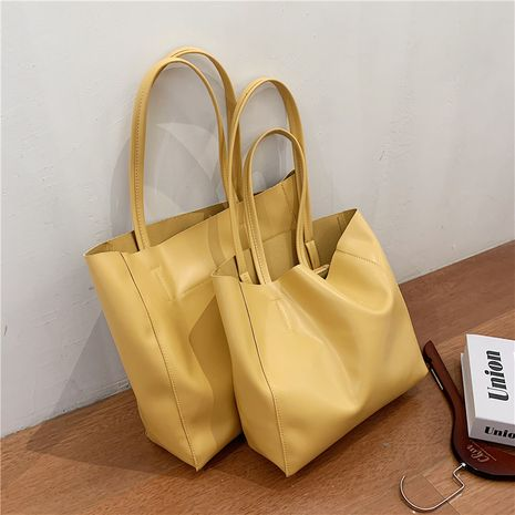 Simple and large-capacity solid color portable bag women's  fashion all-match casual shoulder bag NHLH253622's discount tags