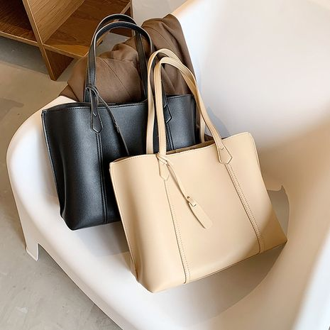 Simple and large capacity casual one-shoulder bag  new  retro fashion bag NHLH253627's discount tags