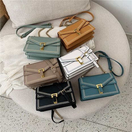 Fashion embroidered chain shoulder small square bag simple and versatile casual messenger bag NHLH253630's discount tags