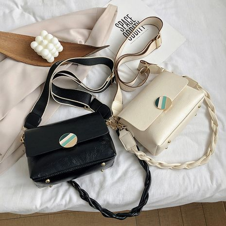 Simple double soft surface one shoulder  new summer all-match cross-body small square bag NHLH253632's discount tags