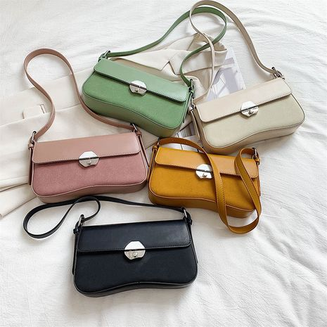Retro wild soft face portable  bag new summer fashion frosted lock single shoulder messenger bag NHLH253633's discount tags