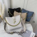 New simple and atmospheric ladies bag shoulder diagonal portable stone pattern chain  bag NHLH253658