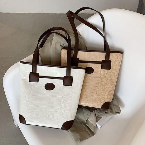 Fashion   texture messenger crocodile pattern simple and versatile one-shoulder  color   bag NHLH253660's discount tags