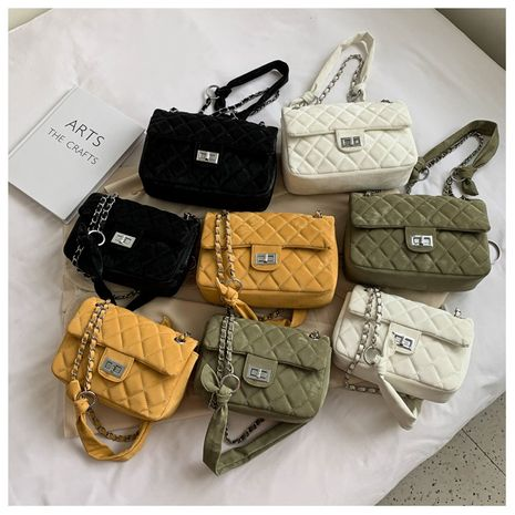 New trendy fashion rhombic chain shoulder bag  all-match messenger bag NHLH253662's discount tags