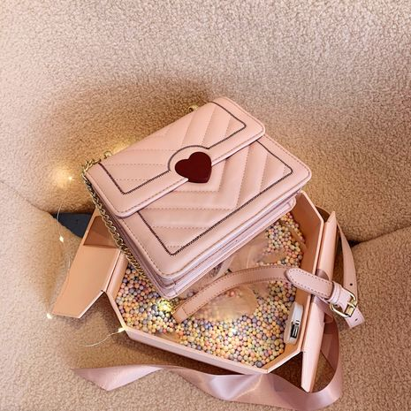 New Trendy   Fashion One Shoulder Chain Bag Texture All-match Messenger Small Square Bag NHLH253669's discount tags