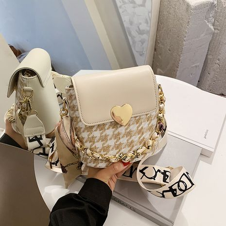 New trendy  broadband messenger bag fashion texture one-shoulder chain bag NHLH253681's discount tags