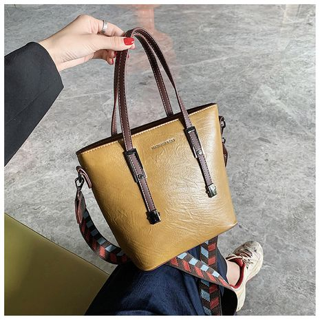 New trendy fashion wild  messenger port style retro bucket bag NHLH253689's discount tags