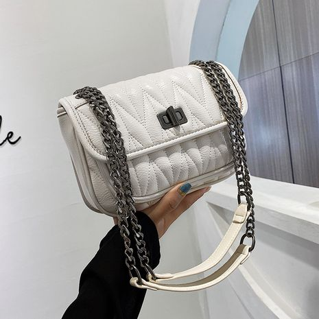 Fashion embroidery thread  new trendy wild chain messenger shoulder bag NHLH253719's discount tags