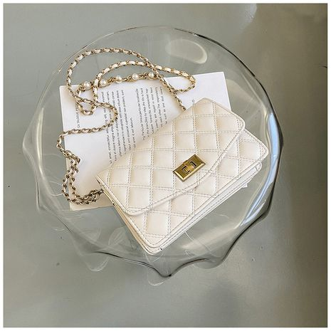 Lingge embroidery thread new trendy fashion all-match chain shoulder messenger small square bag NHLH253733's discount tags