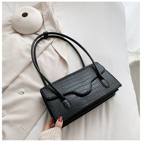 Retro large-capacity new trendy crocodile pattern niche portable small square bag for women  NHLH253736's discount tags