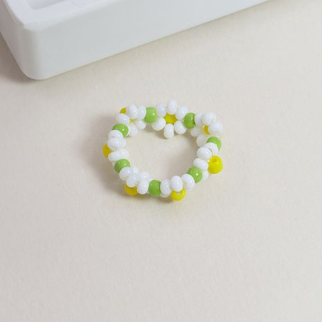 new  rice bead braided alloy ring hot sale NHGU253776's discount tags