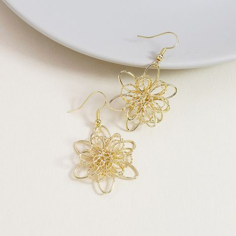 summer  new  metal flower hot-selling flower earrings  NHGU253785's discount tags
