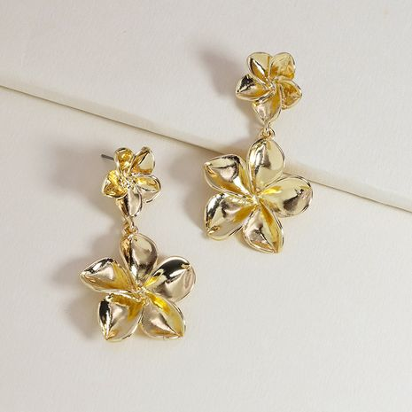 Fashion metal exaggerated flower hot-selling alloy earrings for women NHGU253802's discount tags