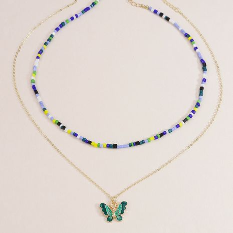 new rice bead butterfly pendant necklaces hot-selling NHGU253821's discount tags