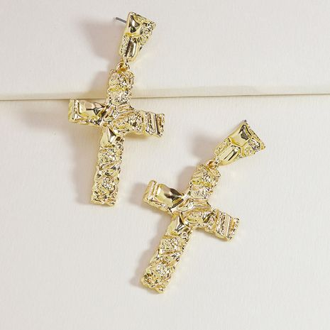 fashion new metal cross alloy exaggerated earrings for women NHGU253849's discount tags