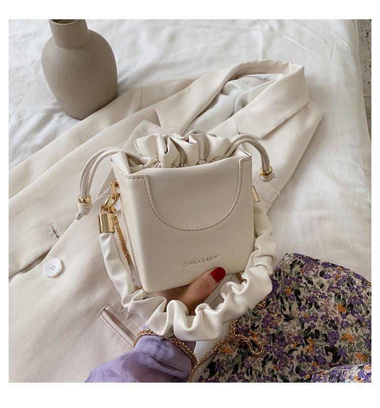New trendy wild style chain shoulder messenger bag   fashion bucket bag NHTC253867