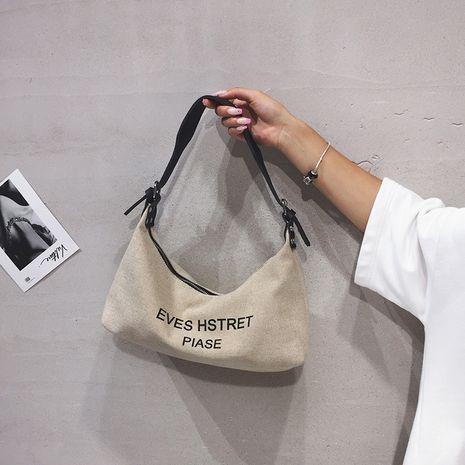 New trendy fashion all-match canvas shoulder bag handbag  NHTC253880's discount tags